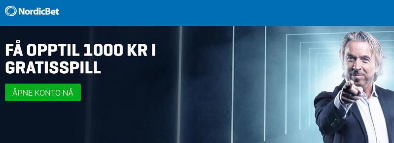 Nordibet oddsbonus med opptil 1000 kr til nye spillere